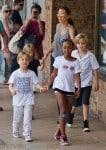Angelina Jolie shops in Australia with Shiloh, Zahara,Vivienne & Knox