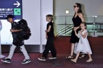 Angelina Jolie with Shiloh, Vivienne and Pax in Tokyo