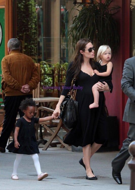 Angelina takes shiloh and zahara shopping