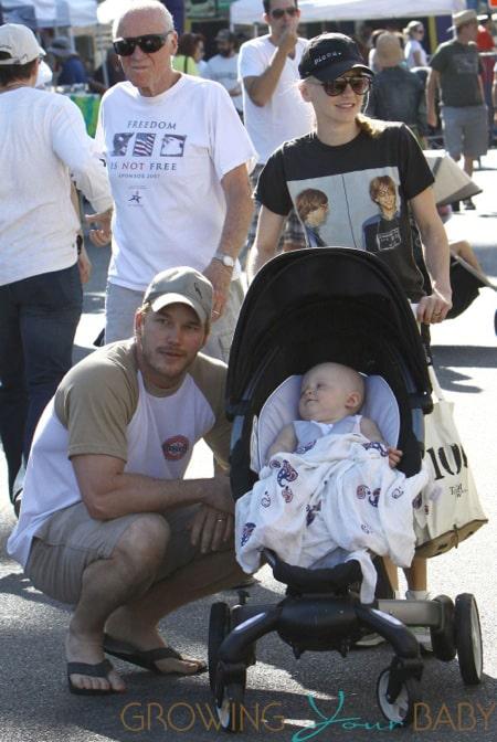Anna Faris & Family Spend Their Son's 1st Birthday At The Farmers Market