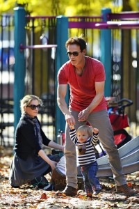 Anna Paquin and Stephen Moyer at the park with her twins NYC