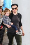 Anna Paquin at the airport with her son Charlie