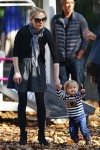Anna Paquin at the park in NYC with her twins