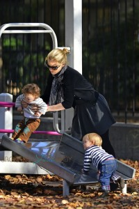 Anna Paquin at the park with her twins NYC