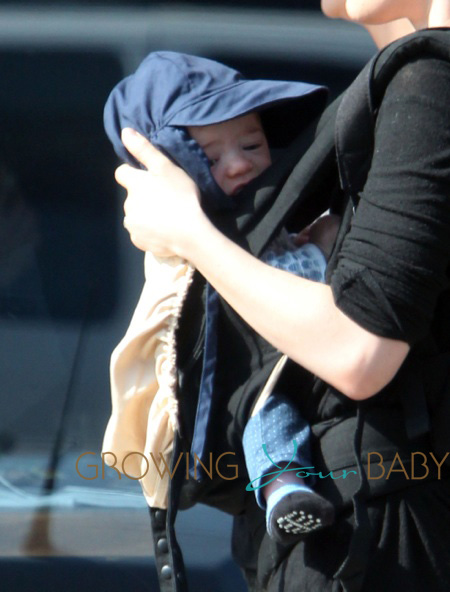 Anna Paquin takes one of her twins out for a walk in Venice Beach