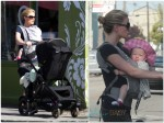 Anna Paquin out in Venice Beach with one of her twins