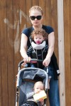 Anna Paquin steps out with her twins Poppy and Charlie