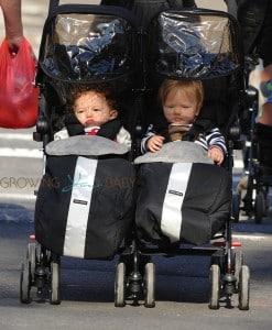 Anna Paquin's twins NYC