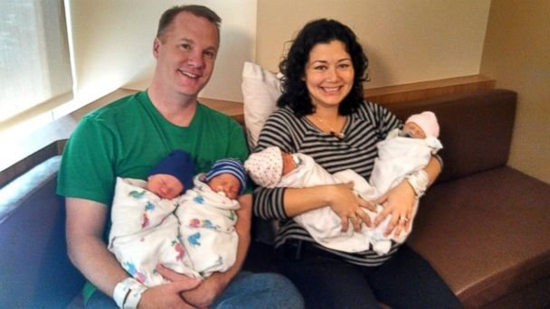 Annie and Joby Johnston with their twins