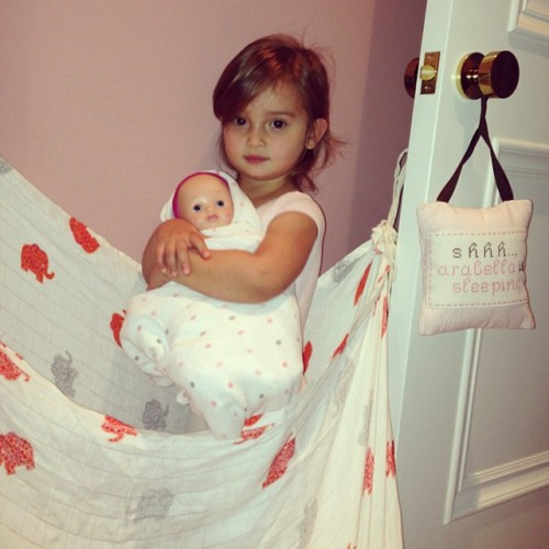 Arabella Kushner gets ready to be a big sister