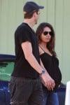 Ashton Kutcher & Mila Kunis out of breakfast in LA