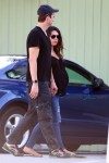Ashton Kutcher and Mila Kunis out of breakfast in LA