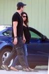 Ashton Kutcher and Mila Kunis out of breakfast in LA