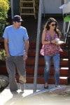 Ashton Kutcher with a pregnant Mila Kunis