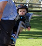 Axl Duhamel bike rides with his dad