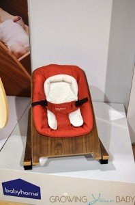 Baby Home Wave bounce chair walnut:clay