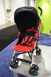 Baby Jogger 2014 Vue Stroller - seat reversed red