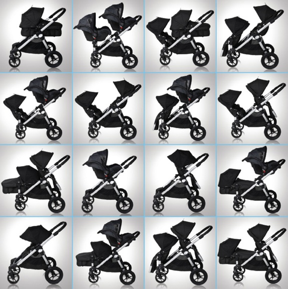 Baby Jogger City Select configuration chart