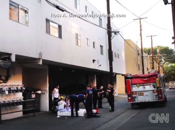 Baby Saved from three story fall in Burbank CA