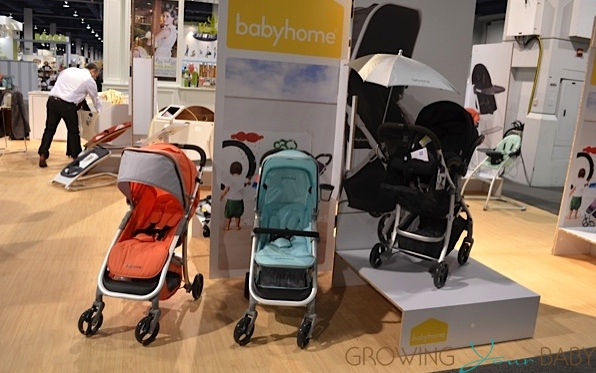 BabyHome Emotion stroller in coral and mint