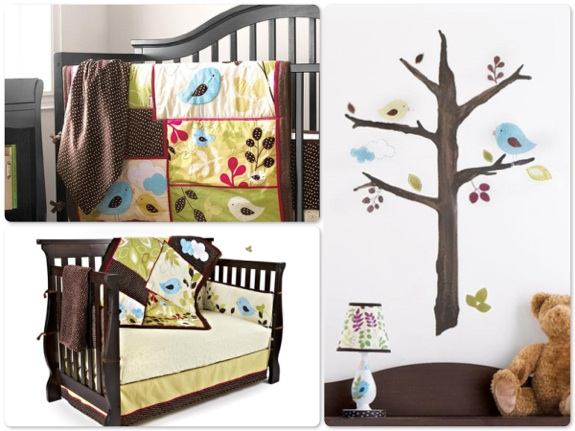 Baby S First Back To Nature 5 Piece Crib Bedding Wall