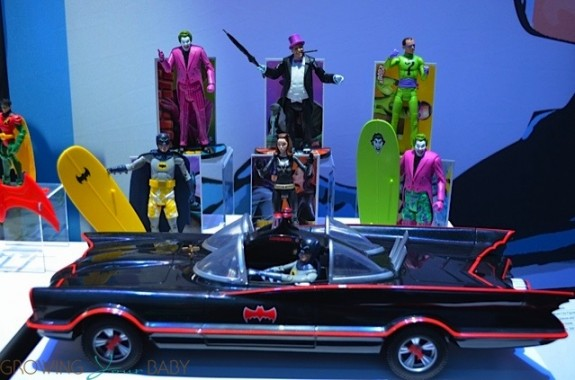 Batman Classic TV Series Action figures and Batmobile Vehicle