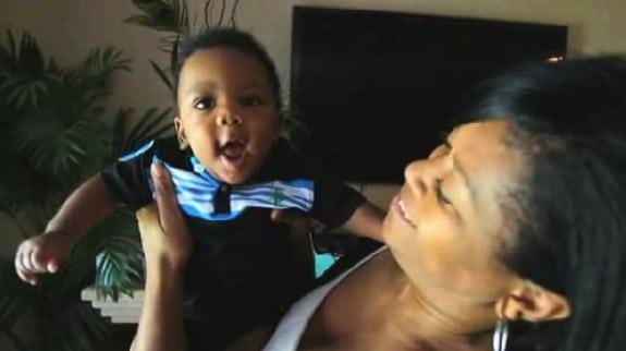 Belinda Slaughter with son Jackson