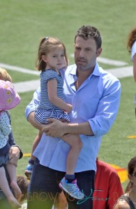 Ben Affleck and Jennifer Garner take their daughters to a racing event in pacific Palisades