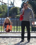 Ben Affleck at the park with his daughter Violet