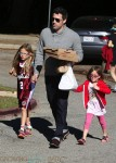 Ben Affleck at the park with his girls Violet and Seraphina