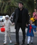 Ben Affleck out for Halloween with his girls Seraphina and Violet