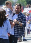 Ben Affleck with daughter Seraphina at 4th of July Parade in Pacific Palisades