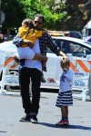 Ben Affleck with daughter Violet and Seraphin at 4th of July Parade