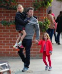 Ben Affleck with daughters Violet and Seraphina at the park