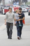 Natalie Portman channels her western style for lunch with her boys