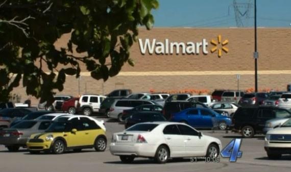 Berkley Ross arrives in the walmart parking lot
