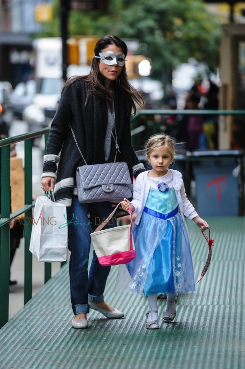Bethenny Frankel out in New York City with her daughter Bryn Hoppy