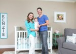 Beverley Mitchell and husband Michael Cameron in their daughter Kenzie's nursery