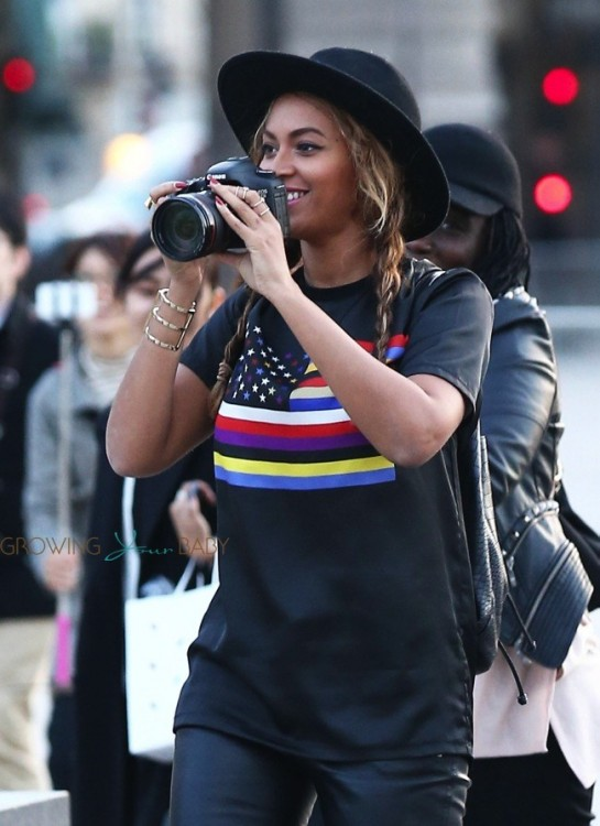 Beyonce out in Paris
