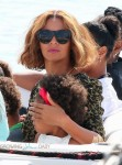 Beyonce with daughter Blue Ivy on vacation in France
