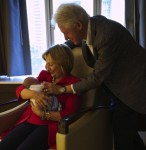Bill and Hilary Clinton with granddaughter Charlotte
