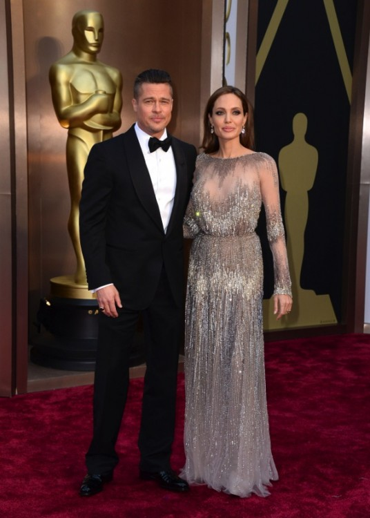Brad Pitt and Angelina Jolie - 86th Annual Academy Awards