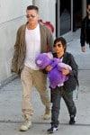 Brad Pitt at LAX with son Pax
