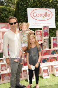 Breckin Meyer with daughters Caitlin and Clover at Corolle event in LA