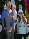 Breckin Meyer and his family at Safe Kids Day in Los Angeles