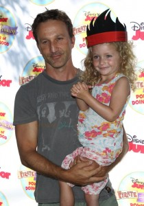 """Breckin Meyer with daughter at Disney Junior's """"Pirate and Princess Power of Doing Good"""" tour"""