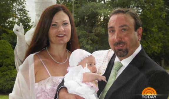Brett and Kristie Cavaliero with daughter Ray Ray