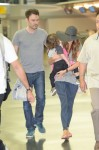 Brian Austin Green and Megan Fox at JFK with son Noah Shannon