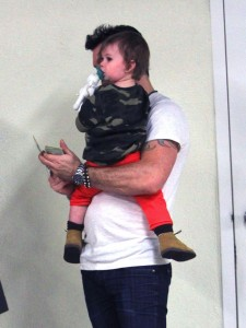 Brian Austin Green and son Noah at the doctors in LA