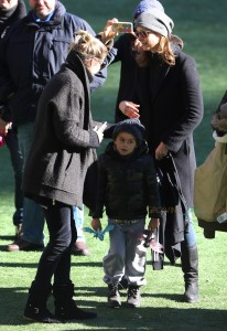 EXCLUSIVE: Gisele Bundchen and son Benjamin meet up with Tom Brady's ex-wife Bridget Moynahan and attend son Jack's soccer game in New York City